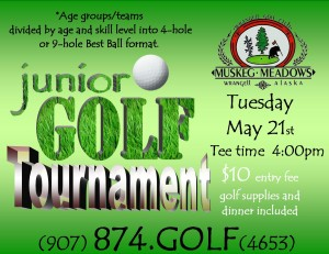 Junior Golf Tournament 5-21-13